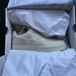 DS Size 10.5 - Nike Air Force 1 Low x Stussy Fossil - CZ9084-200