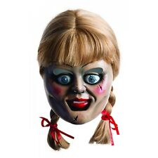 Annabelle Mask and Wig Adult Creepy Doll Costume Scary Halloween Fancy Dress