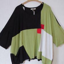 Lagenlook Damenblusen, - tops & -shirts mit Rundhals-Ausschnitt in Größe 50