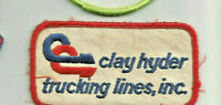 Clay Hyder Trucking Lines Inc driver patch 2 X 3-3/4 #J