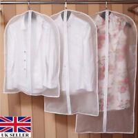Clear Suit Jacket Dress Garment Clothes Cover Dust Protector Travel Bag Zip sch