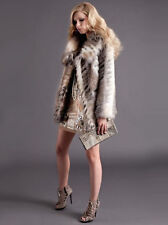 BNWT MISS SELFRIDGE SIZE 12-14 FAUX FUR COAT ANIMAL PRINT JACKET WOMEN LADIES