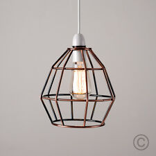 Cagewire lamp shades ebay modern copper metal wire frame ceiling pendant light lamp shade lampshade lights greentooth Gallery