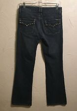 Michael Kors Boot Cut Jeans Stretch Denim Studded Pocket Women's Size 4