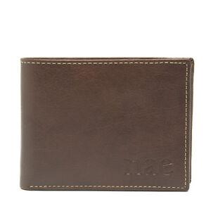 Man Vegan Wallet Billfold Document Photo Credit Card Note Slot Coin Pocket Logo