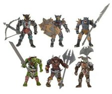 6 Gladiator Monsters from Orcs World, Plastic Action Figures, 100 mm, New