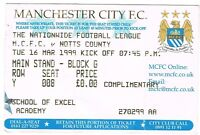 Ticket - Manchester City v Notts County 16.03.99