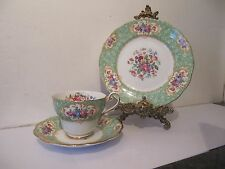 Royal Standard Green Vintage 'Lady Cynthia' China Tea Trio Cup & Saucer