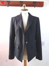NEXT  ladies viscose/poly dark navy pin stripe land girl style jacket size  12