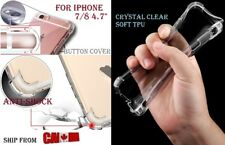 "Anti Shock Knock TPU Clear Case Cover Transparent SOFT iphone 8 / 7 4.7"" Etui"