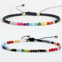 12 Constellation Lucky Stone 3mm Beads Bracelet Boho Chakra Bracelets for Women
