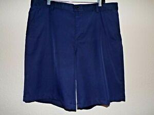 IZOD GOLF Navy Blue Men's Flat Front Shorts - Size 38                         *1
