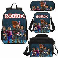 3PCS Roblox School Bag Set Kids Game Backpack Book Bag Pencil Case Lot Gift
