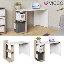VICCO Schreibtisch THEO Weiß Sonoma Eiche Arbeitstisch Bürotisch Regal PC Tisch