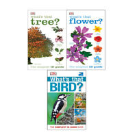 DK 3 Books Collection Set What's that Flower,What's that Tree?,RSPB What's that