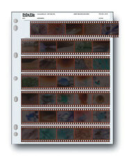 Print File Storage Sheets 35-7B 25 Shts for 35mm Film Negatives 7 Strips 25 Pack