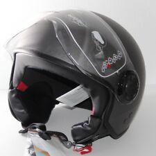 Retro Vespa Jethelm XL Anthrazit | Roller-Helm Motorradhelm Ersatzvisier 9165+