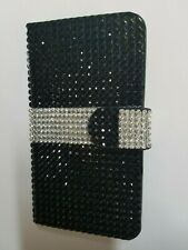 New Samsung Galaxy S5 Diamond Dazzled Black Case Galaxys5 Wallet Cover G900V
