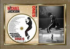 Michael Jackson AND Number One CD Disc Presentation Display SIGNED FRAMED PHOTO