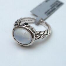 New DAVID YURMAN 925 Moon Quartz, Onyx, Oval Renaissance Ring Size 7.25 NWT