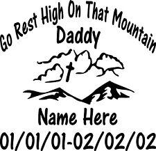 In Loving Memory Dad Cross Custom Vinyl Decal Sticker Car Truck SUV Home Window