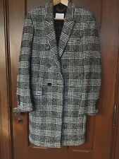 Men's Sandro Paris Double-Breasted Glen/Prince of Wales Plaid Coat, Size Small