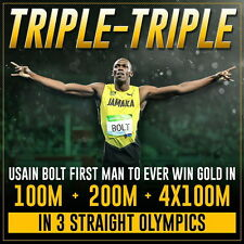 "139 Usain Bolt - Jamaican sprinter Fastest Person 14""x14"" Poster"