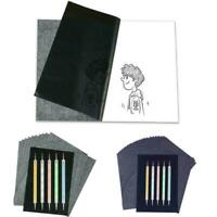 100pc A4 Carbon Paper Overlapped 5 Pen Tracing Paint Office Supplies Y4U6