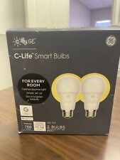NEW! C by GE C-Life Smart LED Light Bulb 60-Watt A19 2-Pack Dimmable
