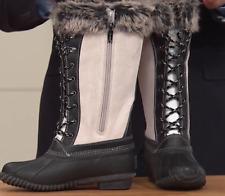 Sporto® Natasha; Waterproof Suede and Leather Duck Boot, Winter White 8W