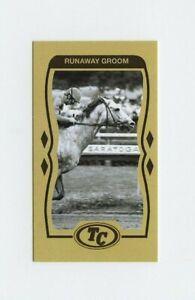 #TN09186 RUNAWAY GROOM Anti Tobacco Horse Racing Card