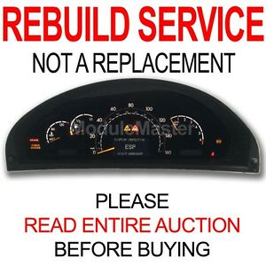 Rebuild Repair for 00 01 02 03 04 05 06 Mercedes CL500 CL55 S430 S500 Cluster