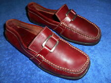 TOD'S CHIANTI BURGUNDY MOCCASIN DRIVING SHOES  SIZE 7.5 B  NICE FROM ITALY.!