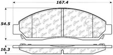 Disc Brake Pad Set Front Centric 106.10390