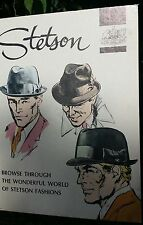Circa 1960 STETSON HATS Cardboard STAND UP Counter Display ADVERTISING SIGN