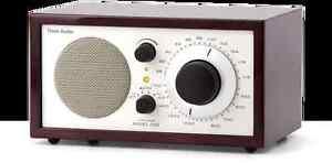 Tivoli Audio Platinum Model One AM-FM Table Radio,Dark Walnut/Beige- NEW