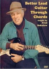 Fred Sokolow Better Lead Guitar Through Chords Learn to Play Scales Music DVD