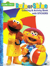24pg Elmo & Friends RAIN or SHINE Coloring & Activity Book with Stickers Age 3+