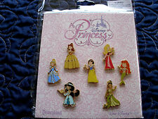 Disney * YOUNG PRINCESSES * NEW 7-Pin Booster Set * Belle Aurora Ariel Jasmine
