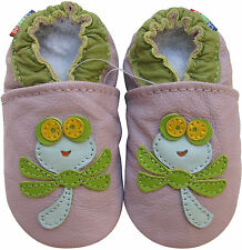 carozoo soft sole baby shoes dragonfly light purple 2-3y C1