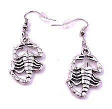 Skorpion Tier Sternzeichen Ohrringe Ohrschmuck Anhänger Silber Metall
