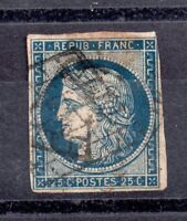France 1849-50 25c Ceres blue imperf fine used WS16961