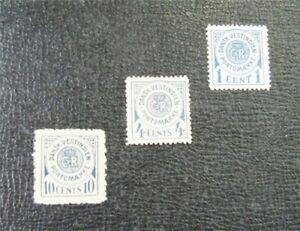 nystamps US Danish West Indies Stamp # J1//J4 Mint OG H $38   J22x1112