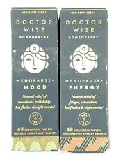2Pk Doctor Wise Homeopathy Menopause Energy + Mood Enhanser 136 Sublingual Tabs