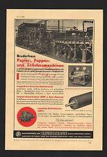 REUTLINGEN, Werbung 1939, Maschinenfabrik zum Bruderhaus GmbH Zellulose-Maschine