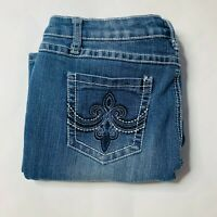 Earl Jeans Womens Size 10P Petite Stretch Skinny Ankle Embroidered