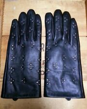 Women's Black Leather Studded Gloves Insulate Target/Merona? NWOT size L/XL