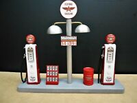 """ FLYING A "" GAS PUMP ISLAND DISPLAY W/GAS PRICE SIGN, 1:18TH, HAND CRAFTED, NEW"
