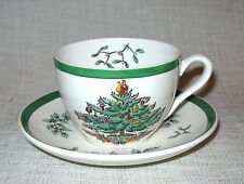 Spode Christmas Tree Cup and Saucer Made in England