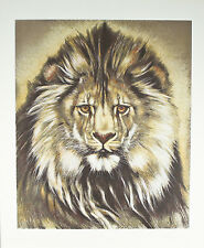 """""""African Lion"""" by Martin Gilbert Katon Signed Trial Proof TP Lithograph 29""""x24"""""""
